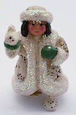 P. Schifferl Midwest Of Cannon Falls White Christmas Col. Girl Holding Dove