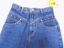 New Vtg Lawman Western Jeans SILVERADO Denim Slim Fit High Waist Jr 3 24X36