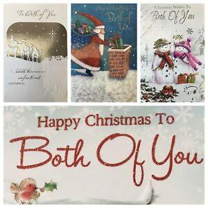 "TO BOTH OF YOU / WONDERFUL COUPLE CHRISTMAS CARD 5.5""x7.5"" (XMAS7)"