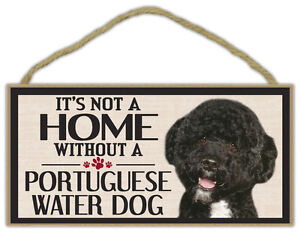 Wood Sign: It's Not A Home Without A PORTUGUESE WATER DOG   Dogs, Gifts
