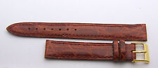 """Genuine Crocodile Padded and Stitched 15mm Mans Honey Colored  Strap 8"""""""