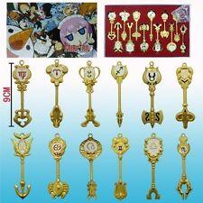 Fairy Tail the twelve constellations big key set keychain 12 pcs Cosplay set+box