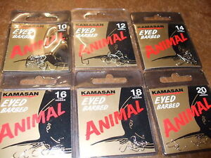 KAMASAN ANIMAL BARBED X2 PACKS  BARBEL LOVE EM!!