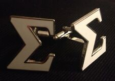 "Phi Beta Sigma White  Cut-out Letter ""Sigma"" Cufflinks/"