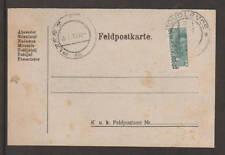 Austria Sc 169 Bisect on 1919 Feldpostkarte