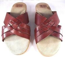 Nunn Bush Mens Sandals Leather Brown Made in Italy Size 11 M