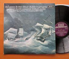 SET 452 Britten Billy Budd Highlights Glossop Pears Britten NEAR MINT + insert