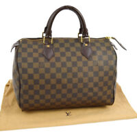 AUTHENTIC LOUIS VUITTON SPEEDY 30 HAND BAG DAMIER CANVAS LEATHER N41531 YG01301