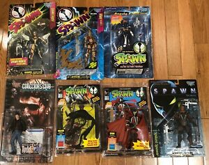 7 SPAWN ACTION FIGURES VIOLATOR, SPAWN, ANGELA, TIFFANY and more NEW IN PACKAGE
