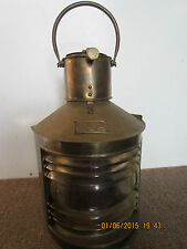 Maritime, Salvaged, Brass Port Or Bow Lantern