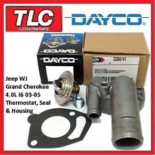 Jeep WJ Grand Cherokee Thermostat, Housing and Gasket 03 - 05 4.0 i6 Engine