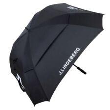 New J Lindeberg Premium Tour Golf Umbrella Brolly - Black, 68 Inch Double canopy