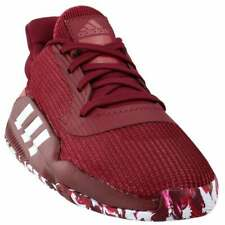adidas Sm Pro Bounce 2019 Low Team  Casual Basketball  Shoes Burgundy Mens -