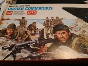 World War II 1/72 Scale British Commandos 50 Figures Made in Italy opened box