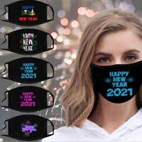 / Weihnachten Mund-Nasen-Maske waschbar Stoffmaske wiederverwendbar Schwarz /'