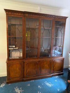 Bookcase display cabinet mahogany