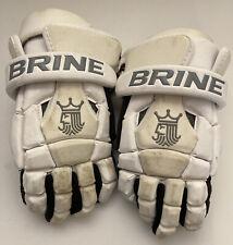 Brine King Lacrosse Gloves White Ventilator Cool Technology 13