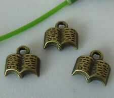 30pcs bronze plated book charms 11x11mm 1A747