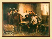 FRANZ DEFREGGER KRIEGSRAT DES ANDREAS HOFER um1897 AUF LEINWAND 43 im Goldrahmen