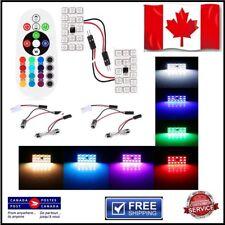 2x 15SMD RGB Car Festoon Dome Light  Lamp Interior Reading Bulb Remote T10 Ba9