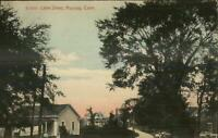 Moosup CT Lake St. c1910 Postcard