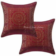 Decorative Brocade Elephant Pillow Case Cover Indian Cushion Cover Case