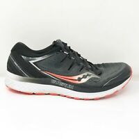 Saucony Mens Guide ISO 2 S20464-3 Black Grey Running Shoes Lace Up Size 9