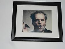 "Large Framed Jack Nicholson with Cigar Smoke Ring Poster Glass Frame 24"" by 20"""