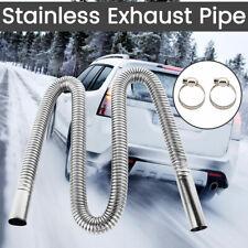 Exhaust Pipe Hose 120cm Stainless Steel Car Parking Air Heater Diesel Gas Vent