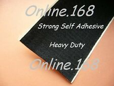 Sticky Hook and Loop Pads HeavyDuty LARGE Self Adhes squ 110mmx130mm BLK FREEp&p