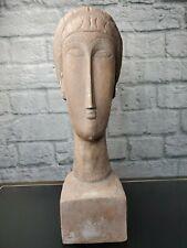 (After) Modigliani Austin Productions Sculpture Tete De Femme' 1963