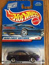 1999 Hot Wheels First Edition #2 Mustang = purple + red interior - RARE - VHTF