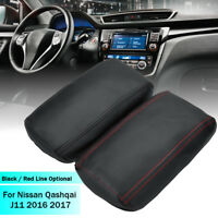 Car Arm Rest Console Center Armrest Cover Leather For Nissan Qashqai J11 2016-17