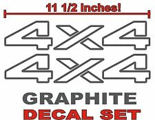 4x4 Truck Bed Decals, GRAPHITE (Set) for Dodge Ram or Dakota