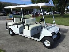 2004 White 6 Passenger Seat Gas club car DS Golf Cart people mover limo