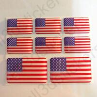 Pegatinas Estados Unidos USA Pegatina Bandera Vinilo Adhesivo 3D Relieve Resina