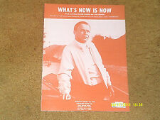 Frank Sinatra sheet music What's Now Is Now 1970 3 pages (NM shape)