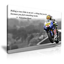 Valentino rossi moto gp citation toile murale art photo print 76cmx50cm