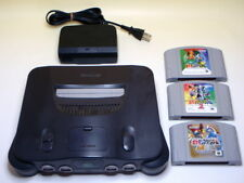 Used Nintendo 64 Console N64 Smoke Grey Color Pokemon Stadium SET from Japan 696