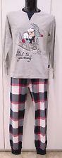Happy People pigiama uomo tg S cotone invernale girocollo,pajamas,3575