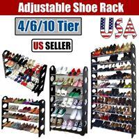 4/6/10 Layer Household Shoe Rack Storage Organizer Tower Shelf Wall Bench Stand