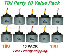 10 PACK TIKI Brand Tin Table Torches Party Pack of 10 Free Priority Shipping!