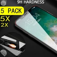 1-5X iPhone XS Max 6.5'' 2018 Screen Protector Clear Tempered Glass Film Cover