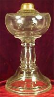 Antique Glass Kerosene Lamp Oil Early American Pressed Clinch Collar