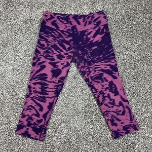 NIKE Dri-Fit Women's Leggings Size M Medium Capri Tie Die Multicolor Purple