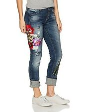 GUESS EMBROIDERED PATCH PENCIL SKINNY MID JEANS SIZE 29 NWT