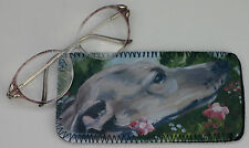 WHIPPET HOUND DOG GLASSES CASE POUCH NEOPRENE OIL PAINTING PRINT SANDRA COEN ART