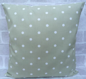 Clarke & Clarke Dotty Dot Sage cushion cover - All Sizes Available 16 inch