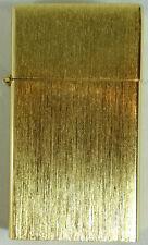 Vintage Lighter 14K Gold Plated Cigarette 1940s Brushed Gold New NOS Clean Wick