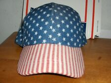 USA Stars and Stripes Snapback Size Adjust Cap, Never Worn